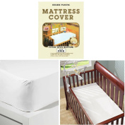 Crib Size Mattress Cover Light Vinyl Toddler Bed Allergy Dust Bug Protector New