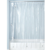 Interdesign Mildew-free Peva 3 Gauge Shower Liner, Long 72 X 84, Clear