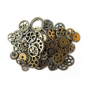 Aoyoho 100 Gramme Assorted Antique Steampunk Gears Charms Pendant Clock Watch