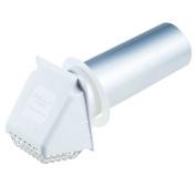 Deflecto Dryer Vent Hood, 10cm , White