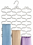 Decobros Supreme 23 Loop Scarf / Belt / Tie Organiser Hanger Holder, Chrome, New