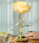Lotus Flower Table Touch Lamp, By Collections Etc