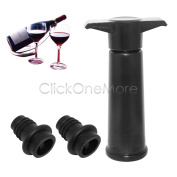 Ezi - Wine Bottle Saver Vacuum Wine Pump With 2 Stoppers Sealing Preserver Us