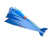 Agptek® 3d Kite Huge Frameless Soft Parafoil Giant Blue Dolphin Breeze Kite, Ne