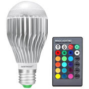 Warmoon E26 Led Light Bulb 10w Rgb Colour Changing Led Lamp Dimmable With ... New