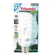 Daylight Light Bulb Cfl 33 W 75 Watt White Compact Fluorescent Spiral Base New