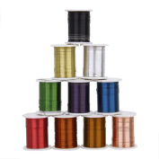 10 Rolls Of Copper Wire Beading Thread Cord For Diy Jewellery Making Dt