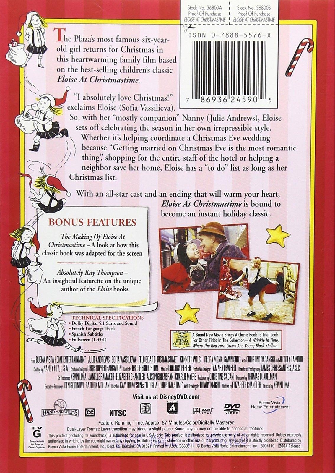 Eloise At Christmastime.Eloise At Christmastime Julie Andrews Dvd By Buena Vista