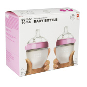 Comotomo Natural Feel 150ml Bottle, 4 Pack - Pink