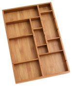 Lipper International Bamboo Adjustable Drawer Organiser Brown 1 {8397} New