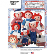 Simplicity Raggedy Ann & Andy Dolls One Size 039363580430