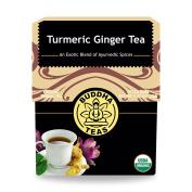 Turmeric Ginger Tea - Organic Herbs - 18 Bleach Free Tea Bags, New, Free Shippin