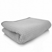 Chemical Guys Mic78101 Waffle Weave Grey Matter Microfiber Drying Towel (60cm .