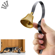 Comsmart Tinkle Dog Bell Pet Door Bell Hanging Brass Doorbell for Potty Training Housetraining Houserbreaking