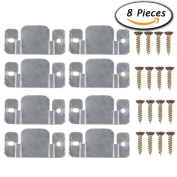 Paxcoo 8 Pcs Metal Sectional Sofa Interlocking Furniture Connector With Screws