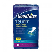 Goodnites Trufit Refill Pack Disposable Absorbent Inserts For Boys & Girls L/lx