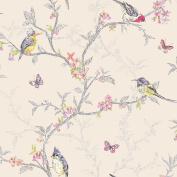 Holden Decor - Phoebe Birds Wallpaper Cream (98082) New 10m