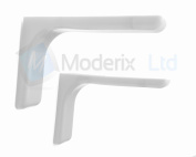 """Shelf Support Brackets With Covers 120mm 4.72"""" Invisible/conc"""
