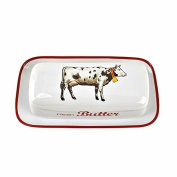 Farmhouse Cow Butter Dish, New,  .