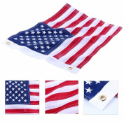 2pcs 30cm x 46cm Yacht Boat Ensign Nautical Usa Us American Flag Sewn Embroidered