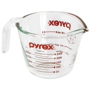 Pyrex Prepware 1-cup Measuring Cup Clear With Red Measurements