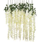 Luyue 1m Artificial Silk Wisteria Vine Ratta Silk Hanging Flower