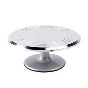 Ohuhu Aluminium Alloy Cake Turntable 30cm Revolving Rotating Cake New