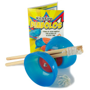 Kickfire Diabolos Blue Comet Chinese Yoyo Diabolo Set With Wooden Sticks And ...