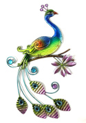 Bejewelled Display® Peacock w/ Glass Wall Art Plaque & Home Decor