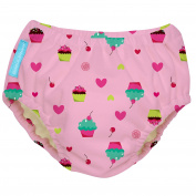 Charlie Banana Reusable Swim Nappy Cupcakes, Baby Pink, X-large