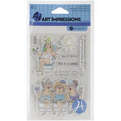 Art Impressions People Clear Rubber Stamps 10cm x 15cm -beach Babes