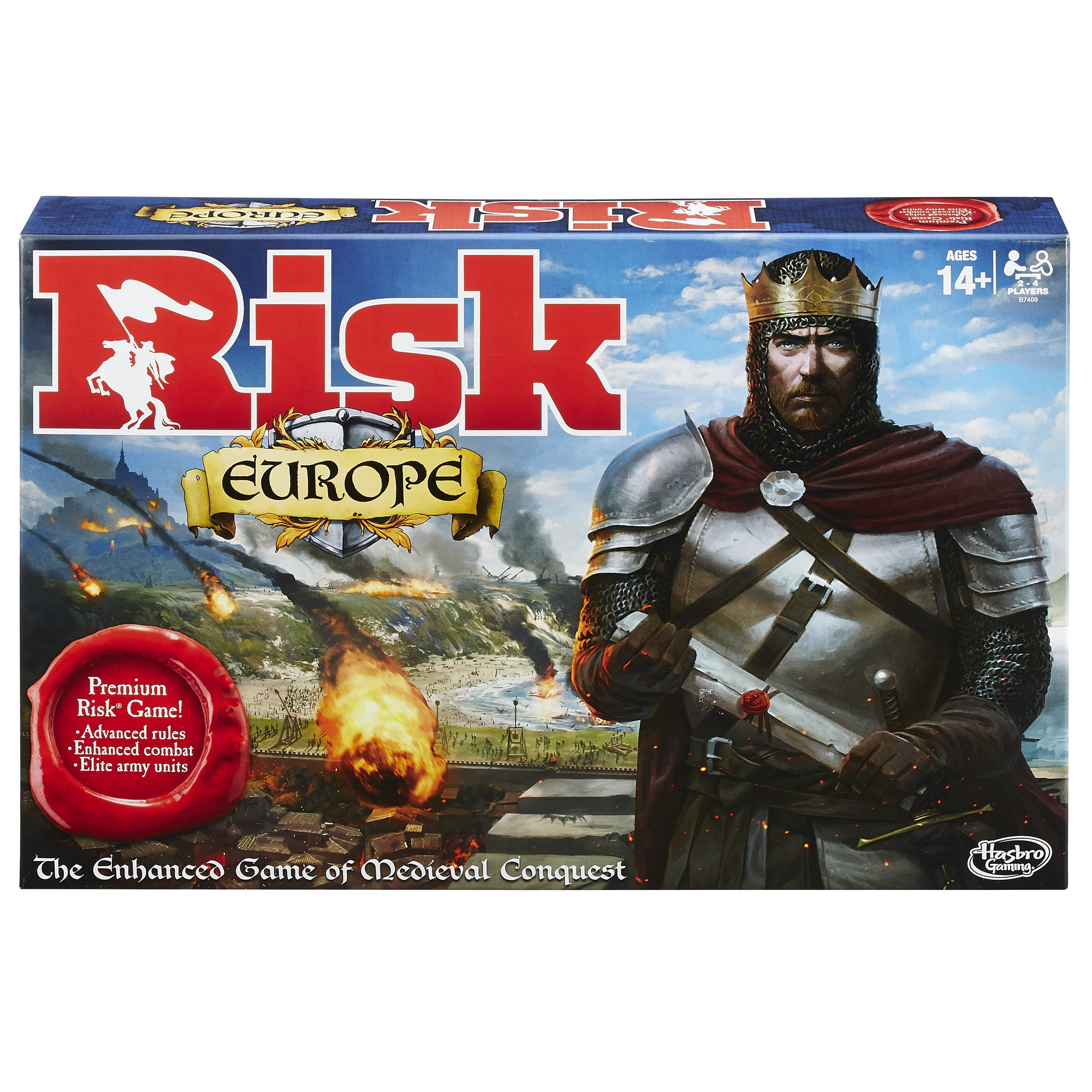 Risk Europe Strategy Board Game, Perfect Game for the Entire Family,  Multiplayer