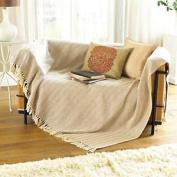 Como Design Cotton Throw 127cm X 152cm Natural Sofa Throw Living Room Decor