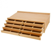 Us Art Supply Artist Wood Pastel Pen Marker Storage Box With Drawer(s) (4-dra...