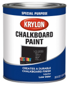 Krylon Chalkboard Paint Special Purpose Brush-on 860ml Quart Black