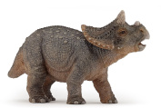 """The Dinosaurs - 7.5""""/19cm Hand Painted Young Triceratops Figure - Papo"""