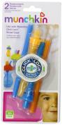 Munchkin Click Lock Replacement Straws Blue/orange 4-count Soft Bpa Free Dishwas