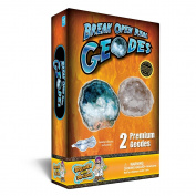 Discover With Dr. Cool Geode Rock Science Kit - Crack Open 2 Amazing Rocks And