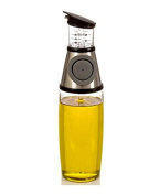 Olive Oil Dispenser 500ml Glass Bottle For Kitchen W/ No Drip Pouring Spout That