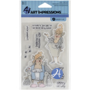 """""""art Impressions People Clear Rubber Stamps 10cm """"x 6""""""""-act My Age"""""""