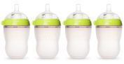 Comotomo Natural Feel Baby Bottle, 4 Pack Green, 240ml
