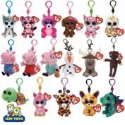 Ty Beanie Boos Keyring Key Clips - Plush Boo Babies Peppa Sparkle Olaf & Sven