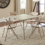 Cosco 5-Piece Folding Table and Chair Set, Multiple Colours