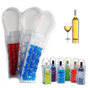 Freezable Wine Cooler Gel Bag Designed To Keep Wine Or Other Beverages Chilled