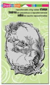 Stampendous Cling Rubber Stamp, Christmas Cottage