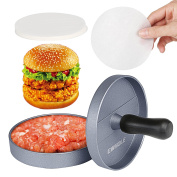 Gwhole Non-stick Burger Press Aluminium Hamburger Maker With 100 Wax Papers For B
