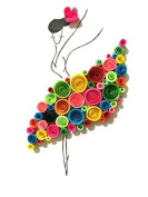 Imisno Diy Paper Quilling Kit With Slotted Tool ( 900 Strips/40 Craft New