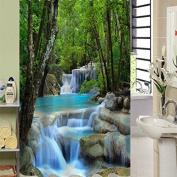 Beddinginn New Upgrade 3d Vivid Waterfall Pattern Shower Curtain180200c