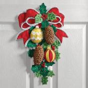 """pinecones & Holly Wall Hanging Felt Applique Kit-33cm ""x 17"""""""