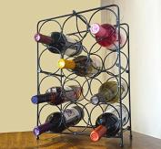 Napoli Metal 12 Bottle Countertop Wine Holder Free Standing Rack For Floor Or Ta
